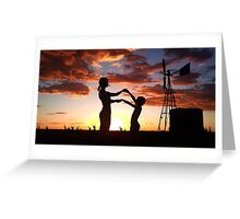 Silhouette Playing... Free State, South Africa  Greeting Card
