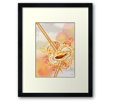 Musical Red Fish Framed Print