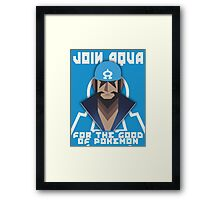 JOIN TEAM AQUA Framed Print