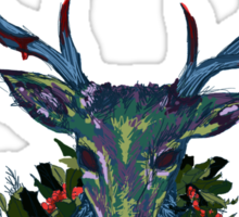 Deck the RavenStag with Boughs of Holly Sticker