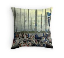 The Race Throw Pillow