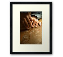 Artist's Hands Framed Print