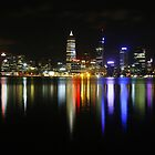Perth from across the river by Geoff White