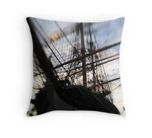 down to the sea in ships Throw Pillow