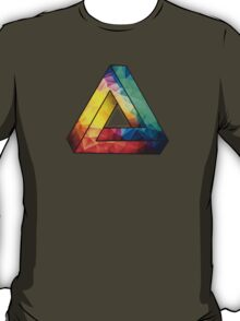 Abstract Multi Color Cubizm Painting T-Shirt