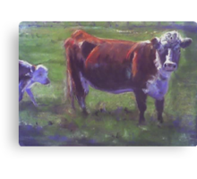 Following Mum. Canvas Print