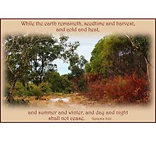 Seasons - Genesis 8:22 Photographic Print