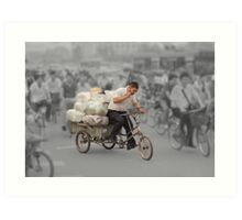 The delivery man Art Print