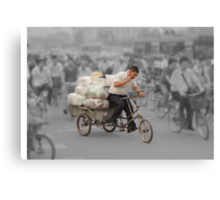 The delivery man Canvas Print