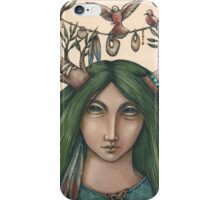 Past green fields and forest iPhone Case/Skin