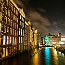 Amsterdam at Night by Ludwig Wagner