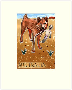 Greetings From Australia - Dingo by John Douglas