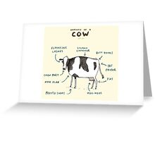 Anatomy of a Cow Greeting Card