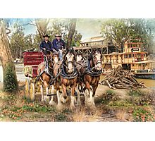 Driving The Murray Photographic Print
