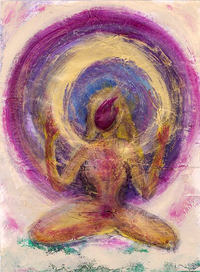 Abstract Enlightened Female by Elena Ray