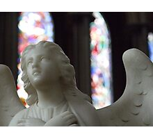 Angel and Stained Glass Window Photographic Print