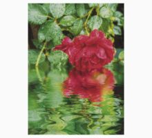 Wet red roses 5 Kids Clothes