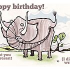 Elephant birthday card by dotmund