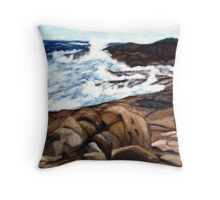 Washed Rocks Throw Pillow