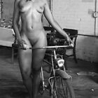 Girl with bike by timpollock