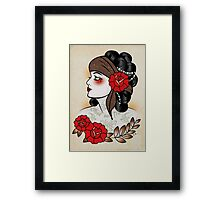 Flapper girl with tats  Framed Print