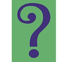 The Riddler  (Purple Question Mark) Photographic Print