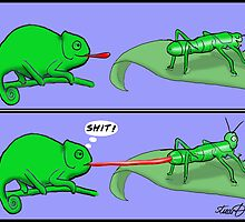 Chameleon Cartoon by David Stuart