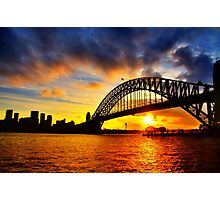 Sydney Harbour Bridge Sunset Photographic Print