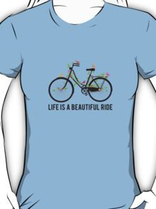 Life is a beautiful ride, vintage bicycle with birds T-Shirt