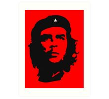 Che Guevara, Revolution. Cuba, Power to the people! In Black Art Print