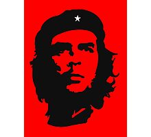 Che Guevara, Revolution, Revolutionary, Cuba, Power to the people! Black on Red Photographic Print