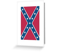 Confederate, Rebel, Dixie Flag, C.S.A, America, Pure & Simple, Portrait, upright Greeting Card