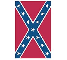 Confederate, Rebel, Dixie Flag, C.S.A, America, Pure & Simple, Portrait, upright Photographic Print