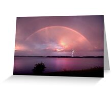 Departing Storm Greeting Card