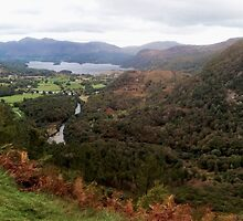 Derwent View from Castle Crag, Cumbria, UK by GeorgeOne