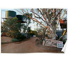 Front Gate, Mt Dare Station,Outback South Australia. Poster