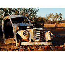 Truck Skeleton, Mt Dare Station Outback S.A. Photographic Print