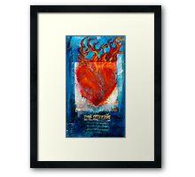 Sacred Sanskrit Heart Framed Print