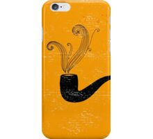 Retro pipe on grunge paper. iPhone Case/Skin