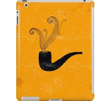 Retro pipe on grunge paper. iPad Case/Skin