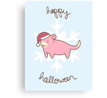Slowpoke Christmas Canvas Print