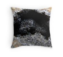 Small Crystal Cave Throw Pillow