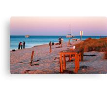 Monkey Mia Beach At Sunset  Canvas Print