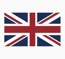 Flag of the United Kingdom, Union Jack, British flag, Pure & Simple by TOM HILL - Designer