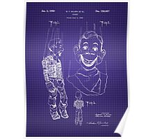 Howdy Doody Style Puppet Patent Image Poster