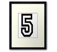 TEAM SPORTS, NUMBER 5, FIFTH, FIVE, Competition,  Framed Print