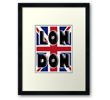 UNION JACK, LONDON, ENGLAND, IN COLOUR, UK, Britain, BRITISH, Framed Print
