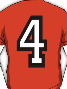 TEAM SPORTS, NUMBER 4, FOUR, FOURTH, Competition, T-Shirt