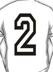 TEAM SPORTS, NUMBER 2, TWO, SECOND, Competition T-Shirt