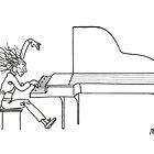 Concerto del piano (Ink Drawing) by mago